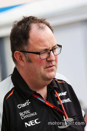 Tom McCullough, Sahara Force India F1 Team Şef Mühendisi