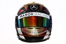 Le casque de Pascal Wehrlein, Manor Racing
