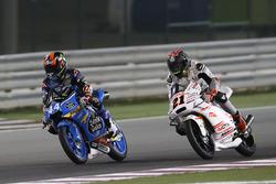 Aron Canet, Estrella Galicia 0,0, Honda and Francesco Bagnaia, ASPAR Mahindra Team Moto3, Mahindra