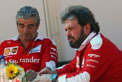 Maurizio Arrivabene, Ferrari Team Principal with Gino Rosato, Ferrari