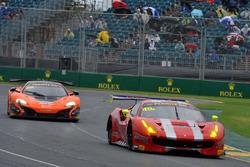 #49 DeFelice Homes Ferrari 488 GT3: Andrea Montermini, Benny Simonsen