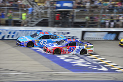 A.J. Allmendinger, JTG Daugherty Racing, Chevrolet; Aric Almirola, Richard Petty Motorsports, Ford