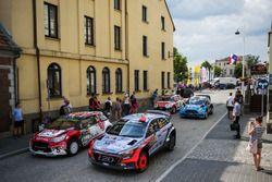 Daniel Sordo, Marc Marti, Hyundai i20 WRC, Hyundai Motorsport and Stéphane Lefebvre, Gabin Moreau, C