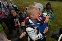 Ott Tanak, DMACK World Rally Team con Andreas Mikkelsen, Volkswagen Polo WRC, Volkswagen Motorsport