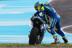 Choque de Aleix Espargaró, Team Suzuki MotoGP