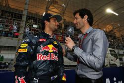 Daniel Ricciardo, Red Bull Racing et Mark Webber, pilote Porsche en WEC - présentateur Channel 4