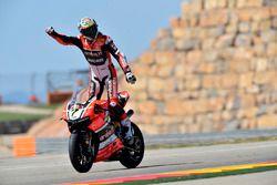 dor Chaz Davies, Aruba.it Racing - equipo Ducati celebra su victoria