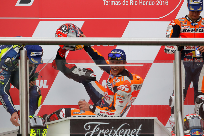 #25 Podium : Marc Márquez, Valentino Rossi, Dani Pedrosa