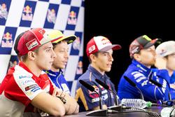 Andrea Iannone, Ducati Team, Valentino Rossi, Yamaha Factory Racing, et Marc Marquez, Repsol Honda Team