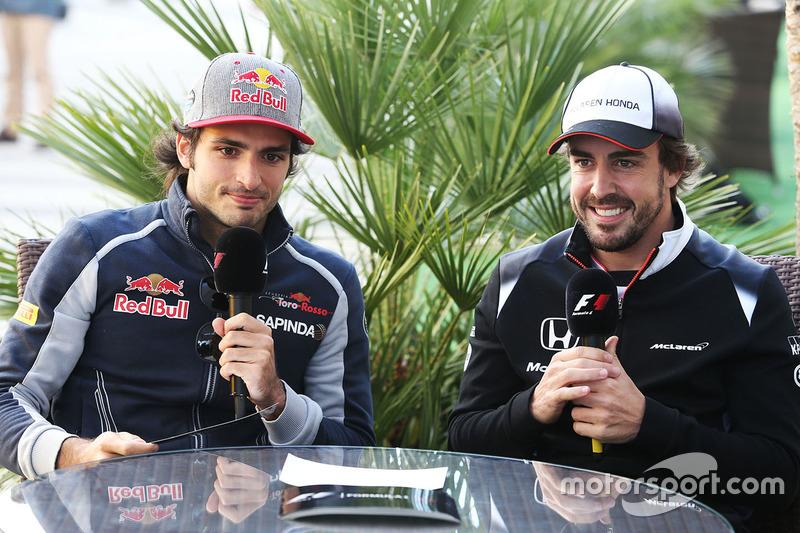 Fernando Alonso, McLaren y Carlos Sainz Jr., Scuderia Toro Rosso