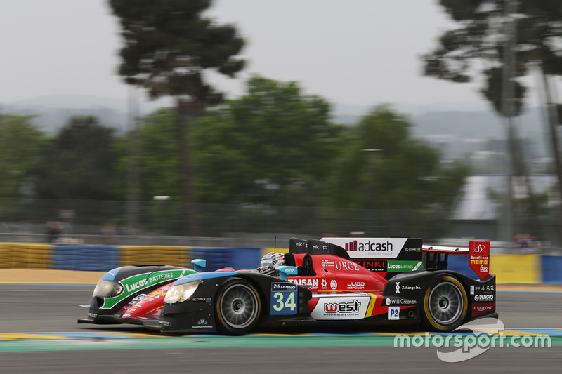 30: #34 Race Performance Oreca 03R - Judd: Nicolas Leutwiler, James Winslow, Shinji Nakano