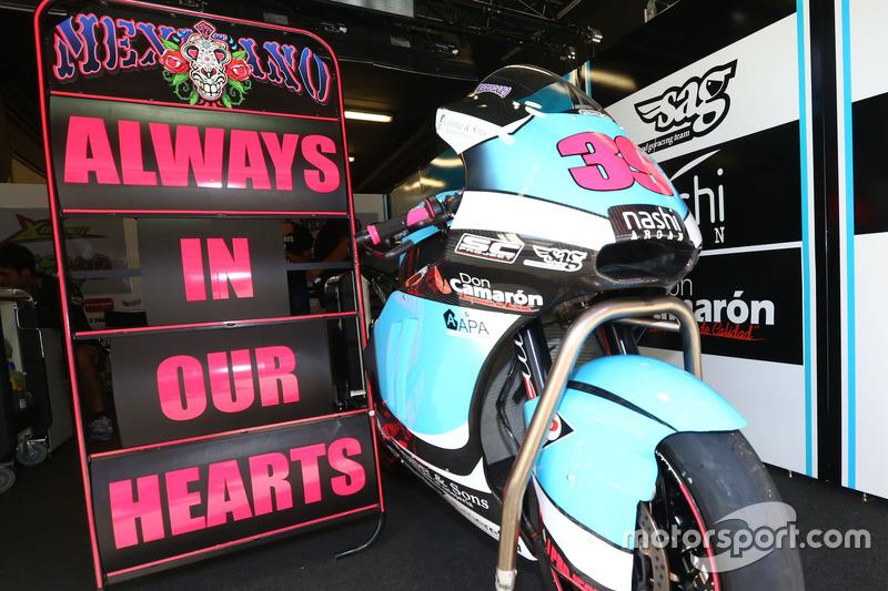 La moto di Luis Salom, SAG Racing Team