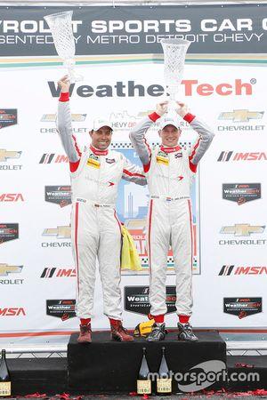 Le podium PC : les vainqueurs Renger van der Zande, Alex Popow