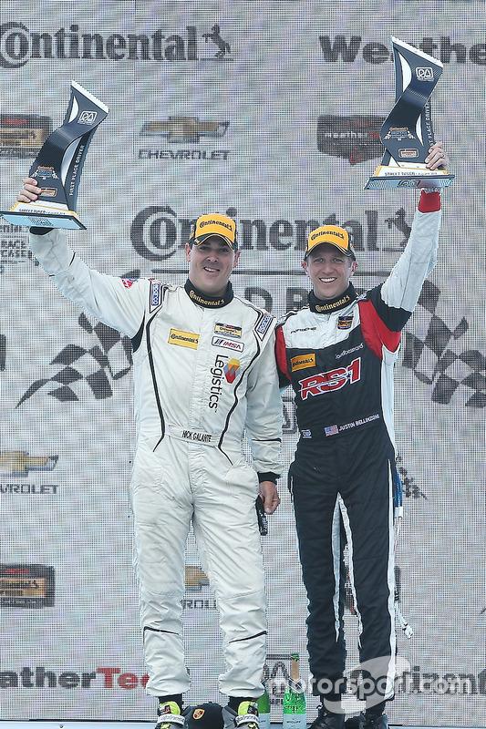 ST podium: winners #17 RS1 Porsche Cayman: Nick Galante, Spencer Pumpelly