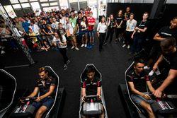 Alex Palou, Campos Racing, Nirei Fukuzumi, ART Grand Prix and Alexander Albon, ART Grand Prix