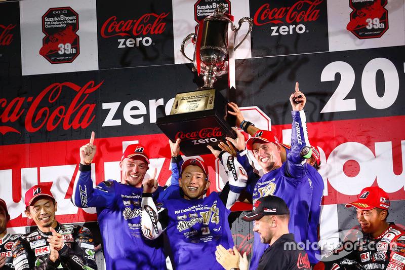 Podium: 1. #21 Yamaha Factory Racing Team