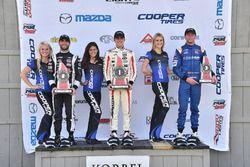 Podium: race winner Santiago Urrutia, Schmidt Peterson Motorsports, second place André Negrao, Schmidt Peterson Motorsports, third place Dean Stoneman, Andretti Autosport