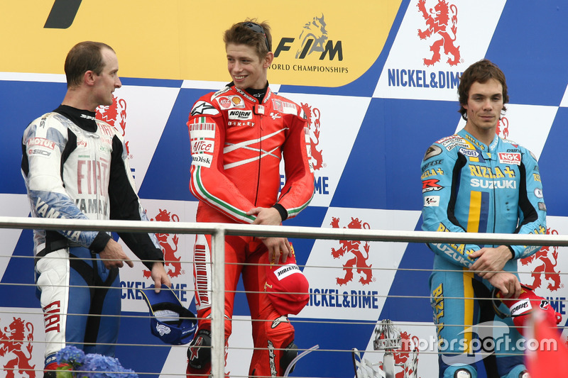 2007: 1. Casey Stoner, 2. Colin Edwards, 3. Chris Vermeulen