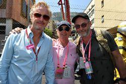 Eddie Irvine mit Vater Edmund Irvine und Liam Cunningham, Schauspieler