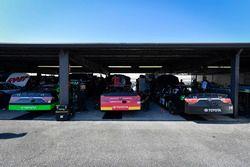 Dakoda Armstrong, JGL Racing, Toyota; Dylan Lupton, JGL Racing, Toyota; J.J. Yeley, TriStar Motorspo