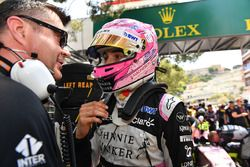 Esteban Ocon, Force India F1 and Bradley Joyce, Force India Race Engineer