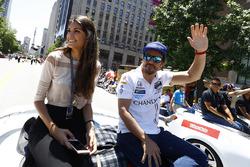Fernando Alonso, Andretti Autosport Honda met vriendin Linda Morselli