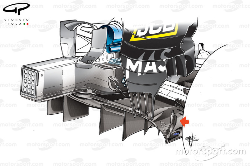 Williams FW40, difusor, Monaco GP