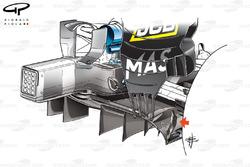 Diffuseur de la Williams FW40 à Monaco