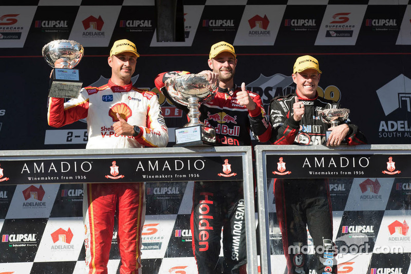 Podium: 1. Shane van Gisbergen, Triple Eight Race Engineering, Holden; 2. Fabian Coulthard, Team Pen