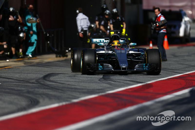 Льюіс Хемілтон, Mercedes F1 W08, на піт-стопі