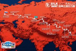 2017 Silk Way rally map