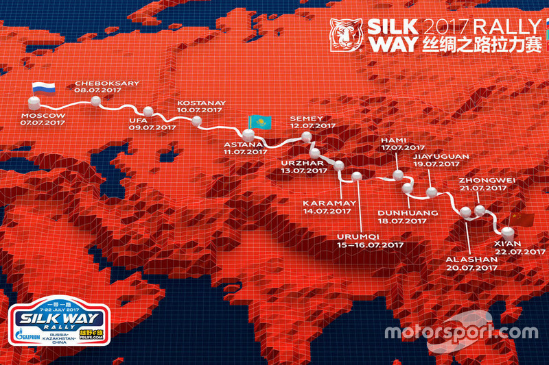 2017 Silk Way rally map