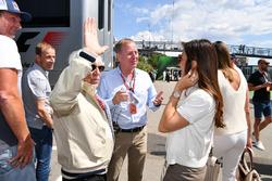Bernie Ecclestone, Fabiana Ecclestone, Martin Brundle, Sky TV