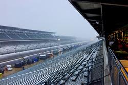 Regen op Indianapolis Motor Speedway