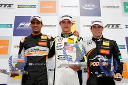 Rookie Podium: Winner Lando Norris, Carlin Dallara F317 - Volkswagen, second place Jehan Daruvala, Carlin, Dallara F317 - Volkswagen, third place Joey Mawson, Van Amersfoort Racing, Dallara F317 - Mercedes-Benz