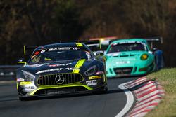 Nico Bastian, Christian Hohenadel, Dominik Baumann, AMG-Team HTP Motorsport, Mercedes AMG GT3