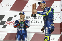 Podium: race winner Maverick Viñales, Yamaha Factory Racing, third place Valentino Rossi, Yamaha Factory Racing
