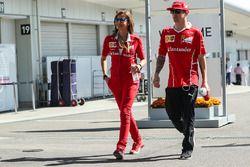 Kimi Raikkonen, Ferrari en Stefania Bocchi, Ferrari Press Officer