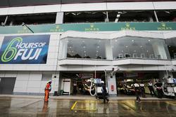 Toyota Racing team area