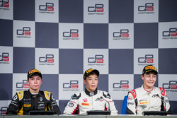 Press Conference: George Russell, ART Grand Prix,Nirei Fukuzumi, ART Grand Prix, Jack Aitken, ART Gr