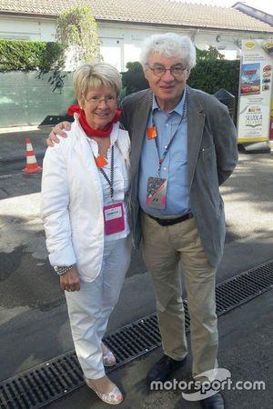 Mario Botta all'Autodromo Nazionale di Monza con la moglie