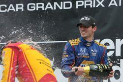 Podium : le vainqueur Alexander Rossi, Herta - Andretti Autosport Honda