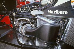Honda RA168E V6 turbocharged engine in McLaren MP4/4 chassis