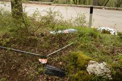 I resti della MINI Cooper JCW di Mauro Amendolia e Gemma Amendolia sul luogo dell'incidente