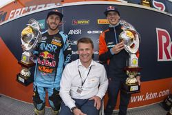 Tony Cairoli, Pit Beirer (KTM Head of Motorsports and Racing), Jorge Prado