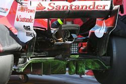 Charles Leclerc, Ferrari SF70H, aero paint on rear diffuser