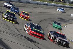 Kyle Benjamin, Joe Gibbs Racing Toyota, Ben Kennedy, GMS Racing Chevrolet