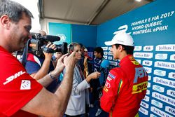 Lucas di Grassi, ABT Schaeffler Audi Sport, speaks to the media after taking Pole Position