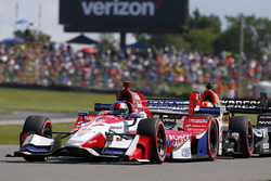 Marco Andretti, Andretti Autosport with Yarrow Honda, James Hinchcliffe, Schmidt Peterson Motorsports Honda