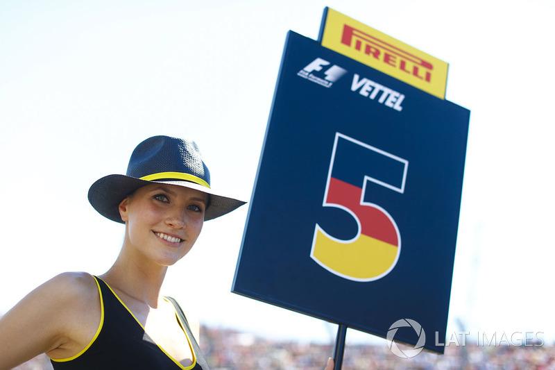 Grid Girl for Sebastian Vettel, Ferrari SF70H